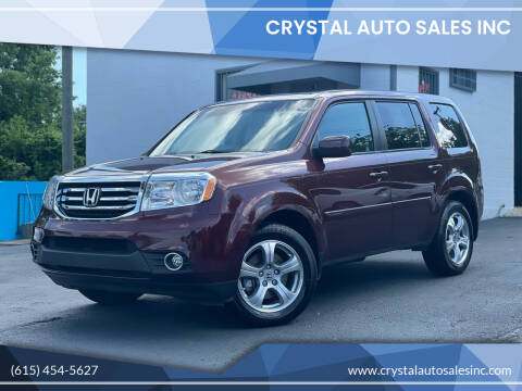 2012 Honda Pilot for sale at Crystal Auto Sales Inc in Nashville TN