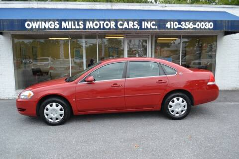 2008 Chevrolet Impala for sale at Owings Mills Motor Cars in Owings Mills MD