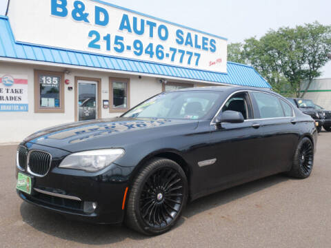 2011 BMW 7 Series for sale at B & D Auto Sales Inc. in Fairless Hills PA