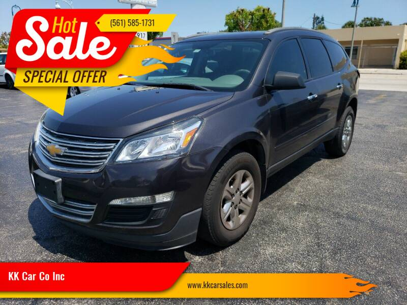 2013 Chevrolet Traverse for sale at KK Car Co Inc in Lake Worth FL