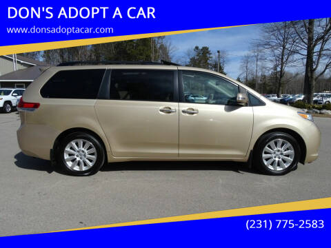 2014 Toyota Sienna for sale at DON'S ADOPT A CAR in Cadillac MI