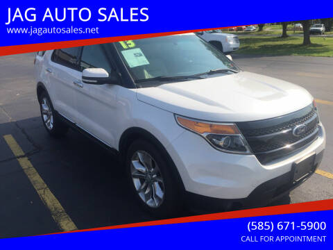2013 Ford Explorer for sale at JAG AUTO SALES in Webster NY