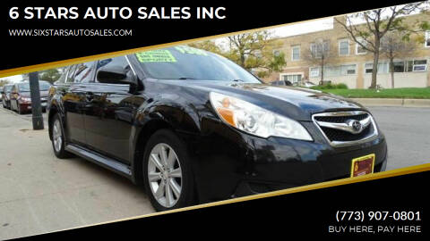 2010 Subaru Legacy for sale at 6 STARS AUTO SALES INC in Chicago IL