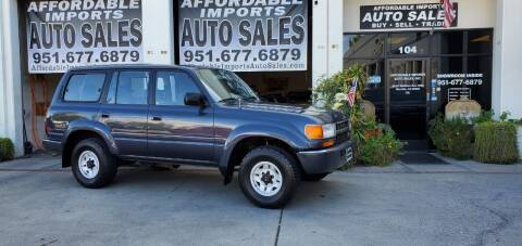 1992 Toyota Land Cruiser for sale at Affordable Imports Auto Sales in Murrieta CA