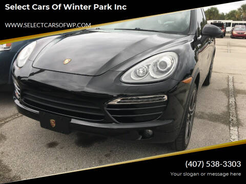 2014 Porsche Cayenne for sale at Select Cars Of Winter Park Inc in Orlando FL