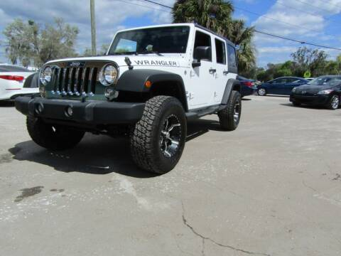 2014 Jeep Wrangler Unlimited for sale at S & T Motors in Hernando FL