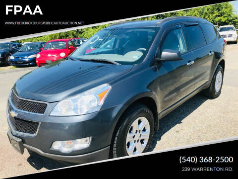 2012 Chevrolet Traverse for sale at FPAA in Fredericksburg VA
