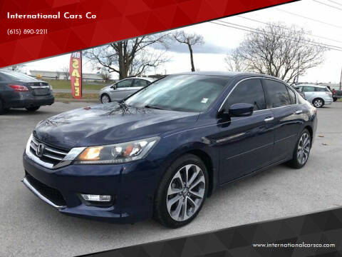 2015 Honda Accord for sale at International Cars Co in Murfreesboro TN