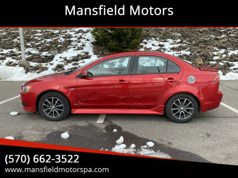 2015 Mitsubishi Lancer for sale at Mansfield Motors in Mansfield PA