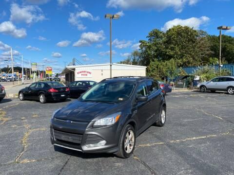 2016 Ford Escape for sale at M & J Auto Sales in Attleboro MA