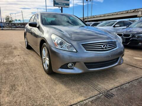 2013 Infiniti G37 Sedan for sale at Zora Motors in Houston TX