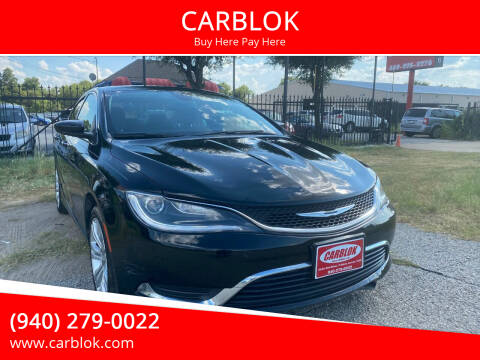 2015 Chrysler 200 for sale at CARBLOK in Lewisville TX