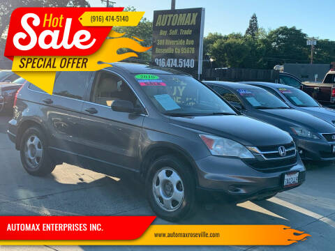 2010 Honda CR-V for sale at AUTOMAX ENTERPRISES INC. in Roseville CA