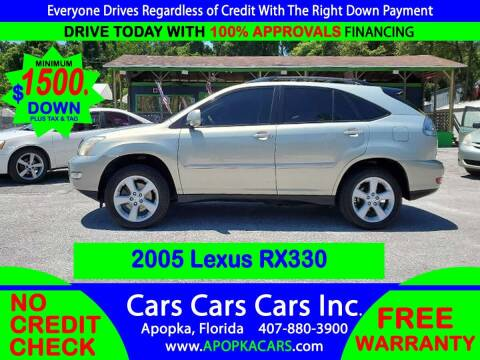 2005 Lexus RX 330 for sale at CARS CARS CARS INC in Apopka FL