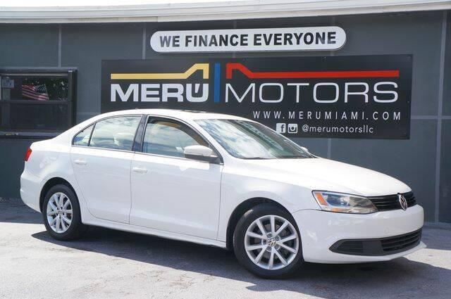 2012 Volkswagen Jetta for sale at Meru Motors in Hollywood FL