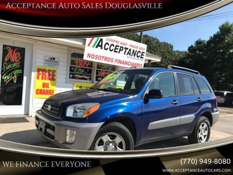 2003 Toyota RAV4 for sale at Acceptance Auto Sales Douglasville in Douglasville GA