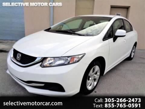 2013 Honda Civic for sale at Selective Motor Cars in Miami FL