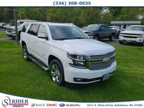 2018 Chevrolet Tahoe for sale at STRIDER BUICK GMC SUBARU in Asheboro NC
