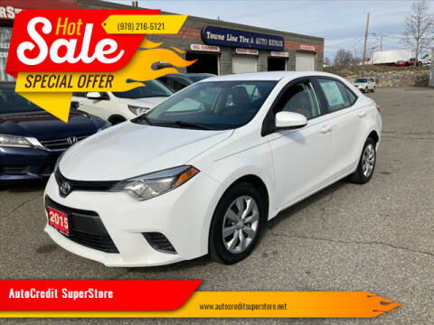 2015 Toyota Corolla for sale at AutoCredit SuperStore in Lowell MA