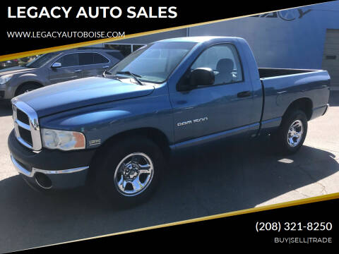2003 Dodge Ram Pickup 1500 for sale at LEGACY AUTO SALES in Boise ID