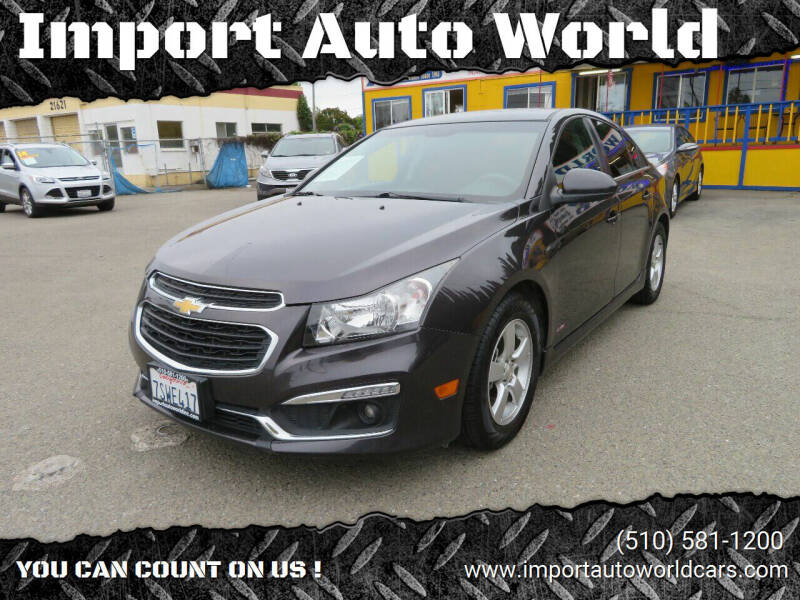 2016 Chevrolet Cruze Limited for sale at Import Auto World in Hayward CA