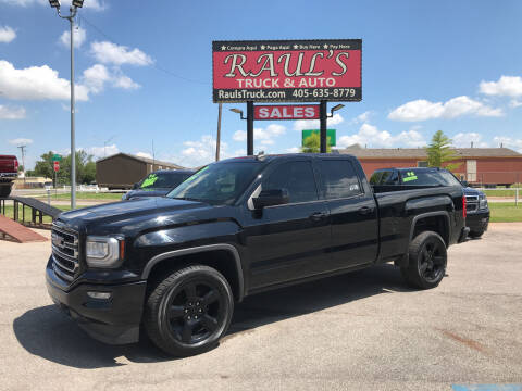 2017 GMC Sierra 1500 for sale at RAUL'S TRUCK & AUTO SALES, INC in Oklahoma City OK