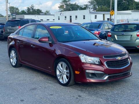 2015 Chevrolet Cruze for sale at MetroWest Auto Sales in Worcester MA