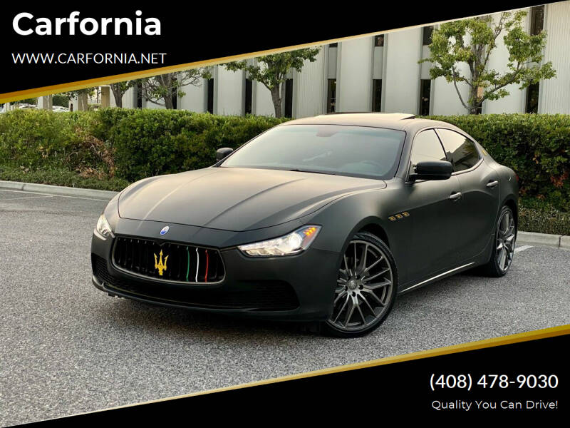 2014 Maserati Ghibli for sale at Carfornia in San Jose CA