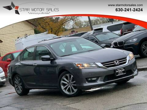 2014 Honda Accord for sale at Star Motor Sales in Downers Grove IL