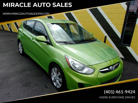 2012 Hyundai Accent for sale at MIRACLE AUTO SALES in Cranston RI