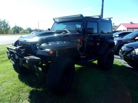2017 Jeep Wrangler for sale at DAVE KNAPP USED CARS in Lapeer MI