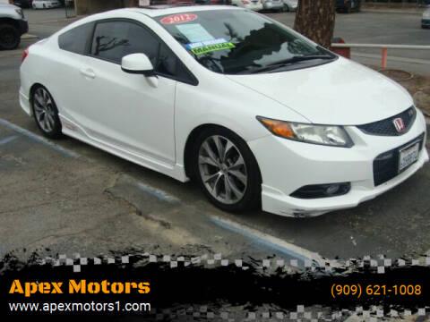 2012 Honda Civic for sale at Apex Motors in Montclair CA