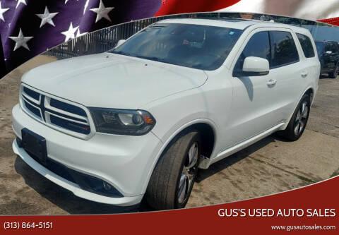 2014 Dodge Durango for sale at Gus's Used Auto Sales in Detroit MI