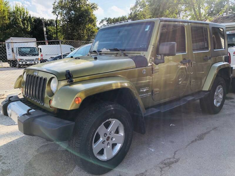 2008 Jeep Wrangler Unlimited for sale at Lion Auto Finance in Houston TX