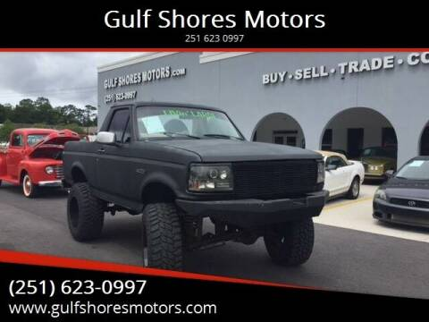 1995 Ford Bronco for sale at Gulf Shores Motors in Gulf Shores AL