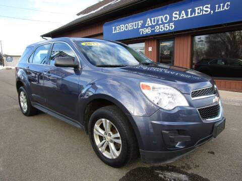 2013 Chevrolet Equinox for sale at LeBoeuf Auto Sales in Waterford PA