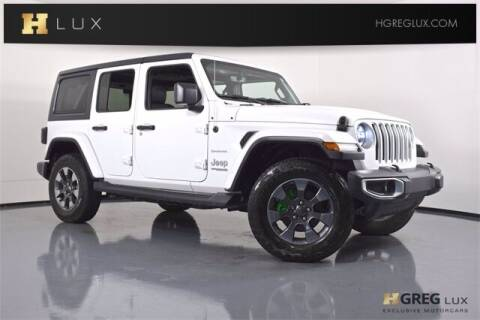 2018 Jeep Wrangler Unlimited for sale at HGREG LUX EXCLUSIVE MOTORCARS in Pompano Beach FL