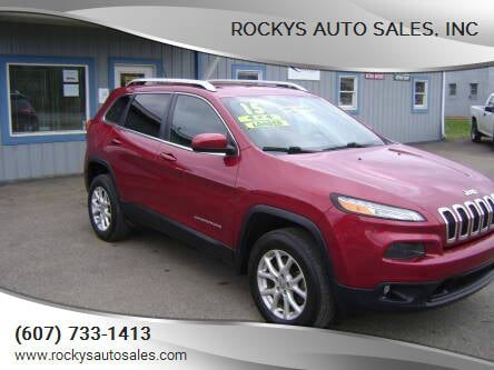 2015 Jeep Cherokee for sale at Rockys Auto Sales, Inc in Elmira NY