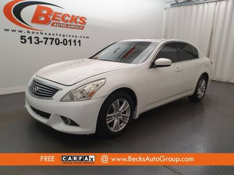 2011 Infiniti G37 Sedan for sale at Becks Auto Group in Mason OH