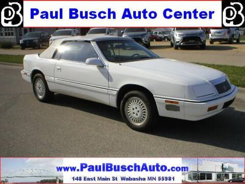 1991 Chrysler Le Baron for sale at Paul Busch Auto Center Inc in Wabasha MN