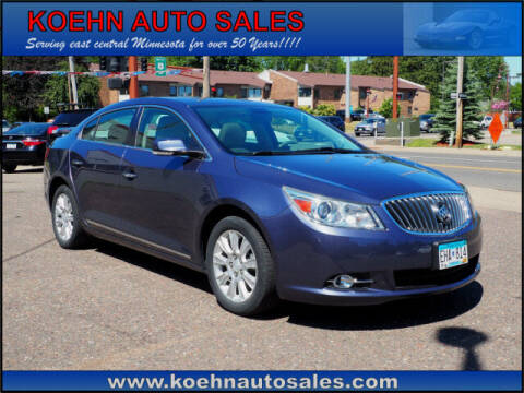 2013 Buick LaCrosse for sale at Koehn Auto Sales in Lindstrom MN