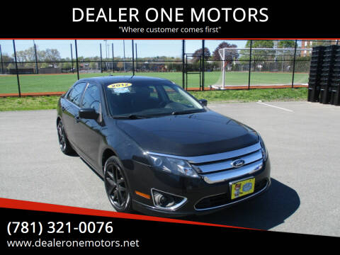 2012 Ford Fusion for sale at DEALER ONE MOTORS in Malden MA
