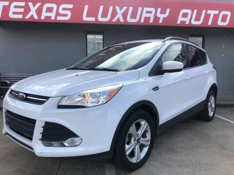 2015 Ford Escape for sale at Texas Luxury Auto in Cedar Hill TX
