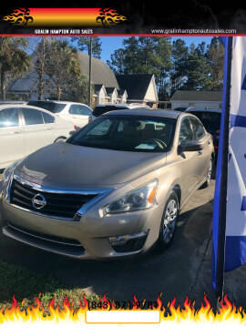 2014 Nissan Altima for sale at Gralin Hampton Auto Sales in Summerville SC