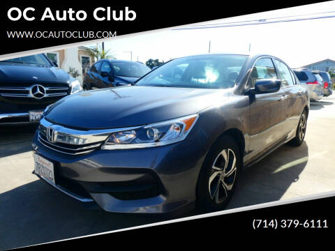 2016 Honda Accord for sale at OC Auto Club in Midway City CA