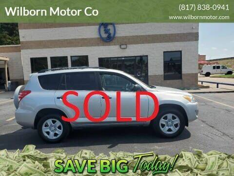 2009 Toyota RAV4 for sale at Wilborn Motor Co in Fort Worth TX