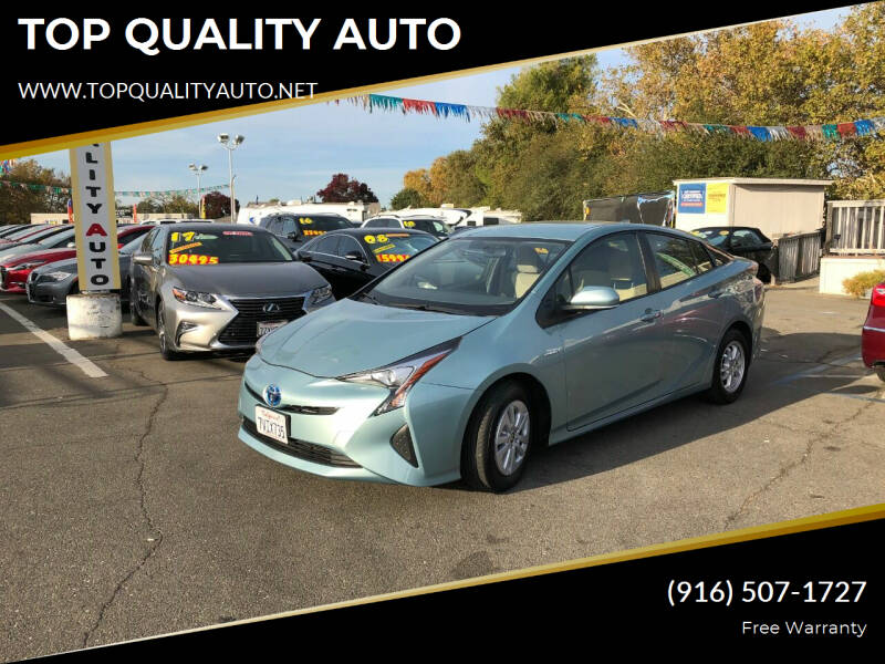 2016 Toyota Prius for sale at TOP QUALITY AUTO in Rancho Cordova CA
