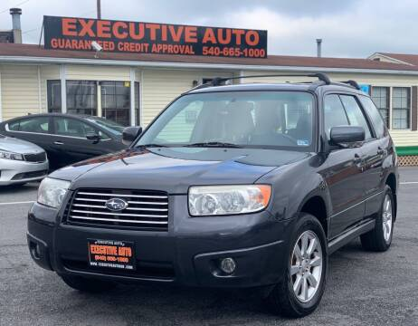 2008 Subaru Forester for sale at Executive Auto in Winchester VA