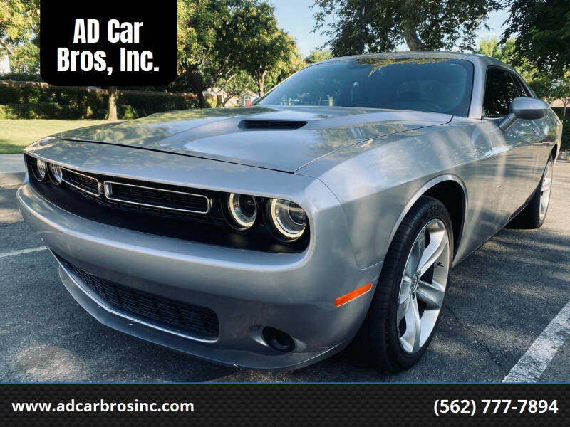 2015 Dodge Challenger for sale at AD Car Bros, Inc. in Whittier CA