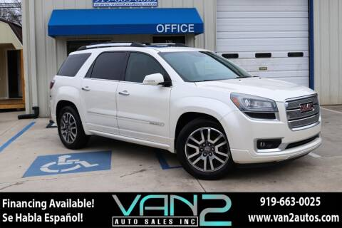 2013 GMC Acadia for sale at Van 2 Auto Sales Inc in Siler City NC